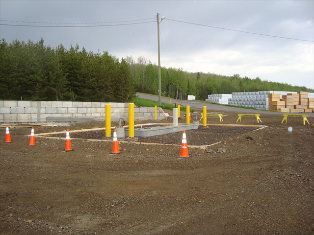 Dunkley Lumber new island poured