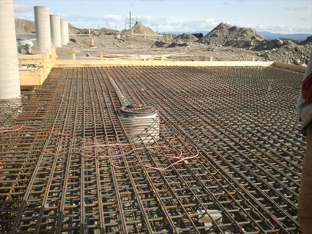 Mount Milligan first layer of rebar