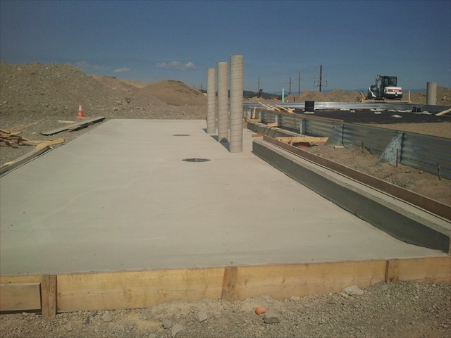 Mount Milligan concrete pad